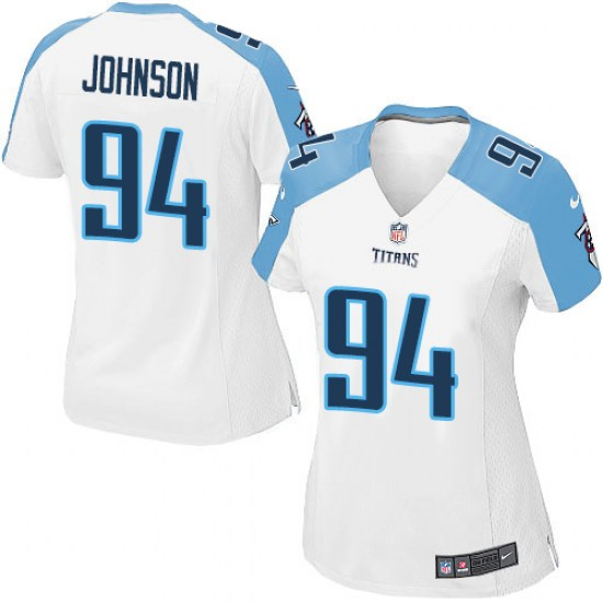 8f40281f Nike Austin Johnson Tennessee Titans Women's Game White Jersey